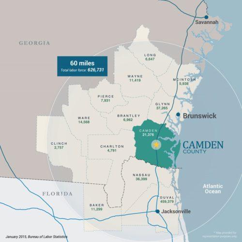Camden County Workforce Map